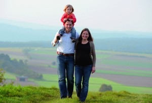 Simon Sauerbier mit Familie